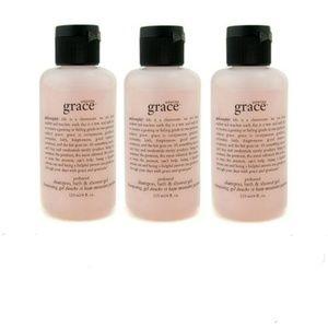 NEW 3× Philosophy Amazing Grace 3in1 Shower Gel
